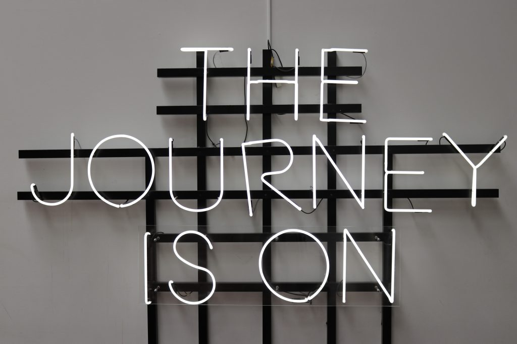 """Image that says """"the journey is on"""""""